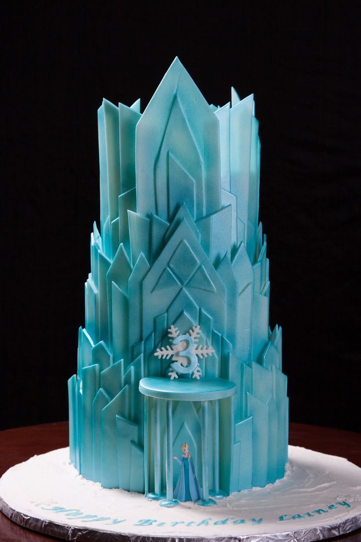 Elsa S Ice Castle 3rd Birthday Cake On Cake Central