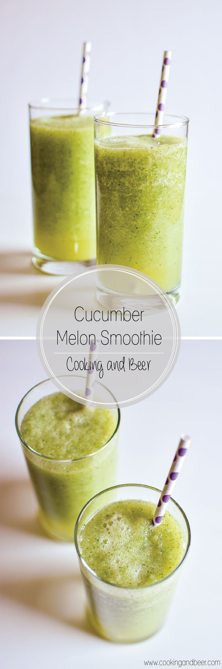 Cucumber Melon Smoothie: a refreshing smoothie recipe to start your day!