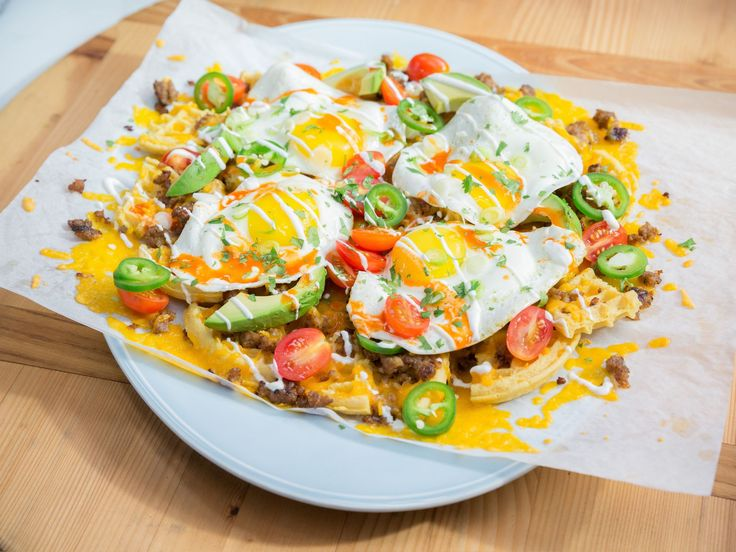 Get this all-star, easy-to-follow Breakfast Nachos recipe from Katie Lee