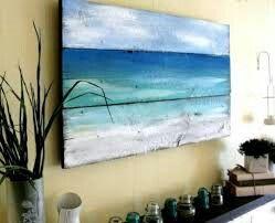 Pallet schilderij zee