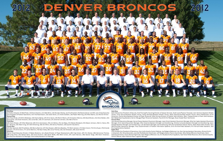 2012 team picture. Broncos' 2013 preseason schedule:  Week 1: at San Francisco 49ers — Aug. 8-11 (TBD)   Week 2: at Seattle Seahawks — Aug. 15-19 (TBD)   Week 3: vs. St. Louis Rams — Saturday, Aug. 24, 6 p.m. MDT (Nationally televised on CBS)  Week 4: vs. Arizona Cardinals — Aug. 29 or 30 (TBD) Exact dates and times of each game will be announced later this month. It marks the 16th consecutive season the Broncos have opened the preseason on the road, extending the franchise record.