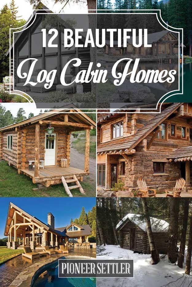 12 Real Log Cabin Homes Take