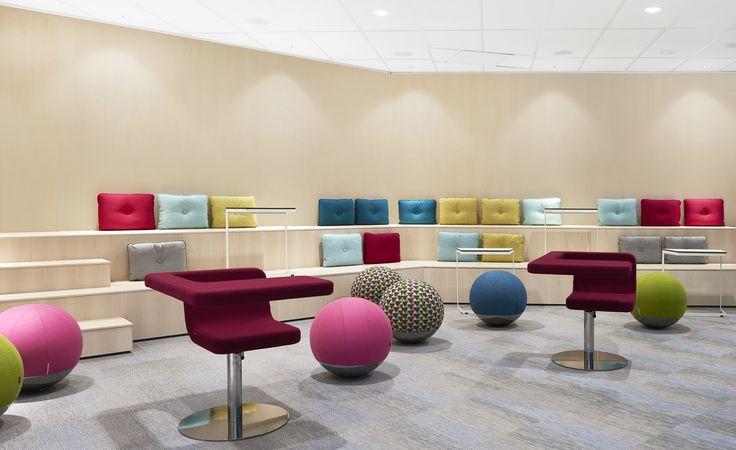 Boullée stool, design: Anders Johnsson   Clip easy chair, design: Fredrik Mattson   Monolite table, design: Sandin & Bülow