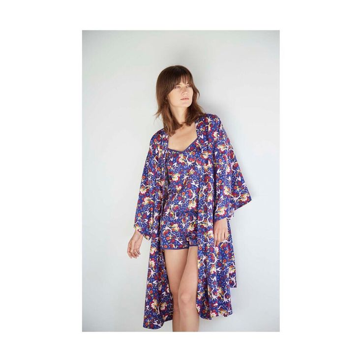 "46 Likes, 1 Comments - @alas_the_label on Instagram: ""~New Sale Items~ Treat yourself or a loved one to this heavenly 'Norwegian Wood' print robe to swan…"""
