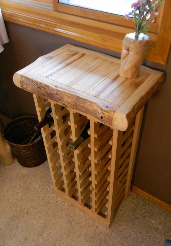 Butcher block wine rack. by AspenSpirit on Etsy, $328.00
