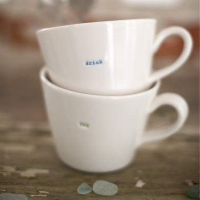 'Bucket' mugs - start your day in style