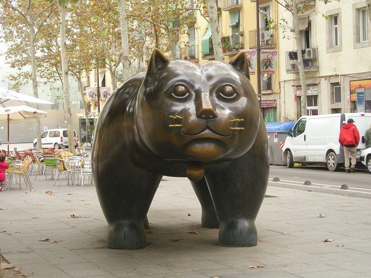 statue Chat de BOTERO