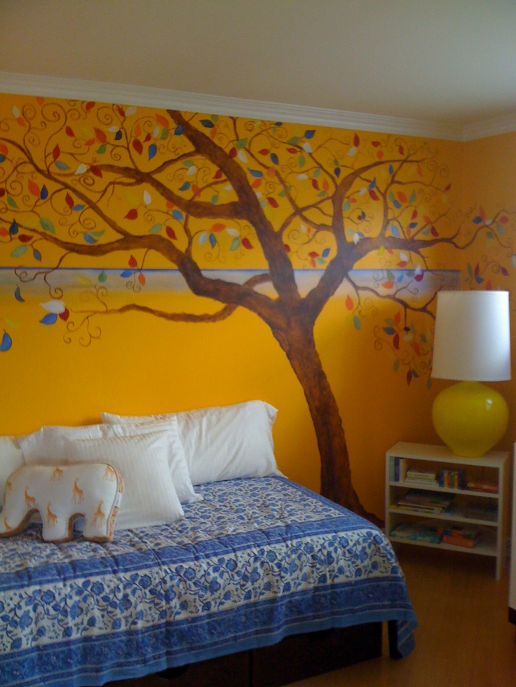 17 best images about kids bedroom ideas on pinterest for Children wall mural ideas