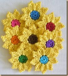 Crochet Yellow Flower Pattern : 25+ best ideas about Crochet Sunflower on Pinterest ...