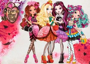 """Ever After High: """"Picture this: the daughters of Snow White and the Evil Queen are attending school together. Their names are Apple White and Raven Queen; and, somehow, it works."""""""