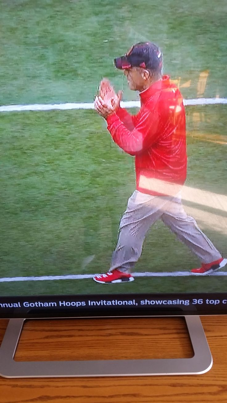 Nebraska coach Mike Riley flexing on every other coach in America