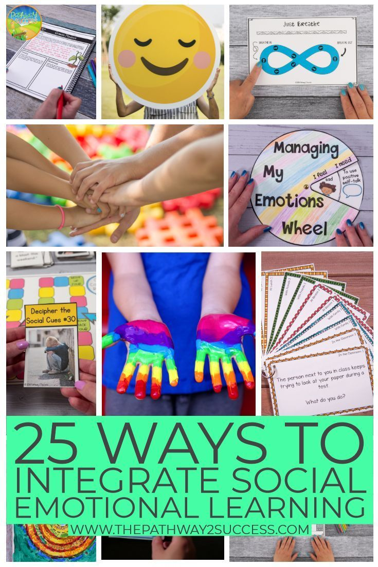 25 Ways To Integrate Social Emotional Learning Social Emotional Learning Emotions Activities Social Emotional Skills