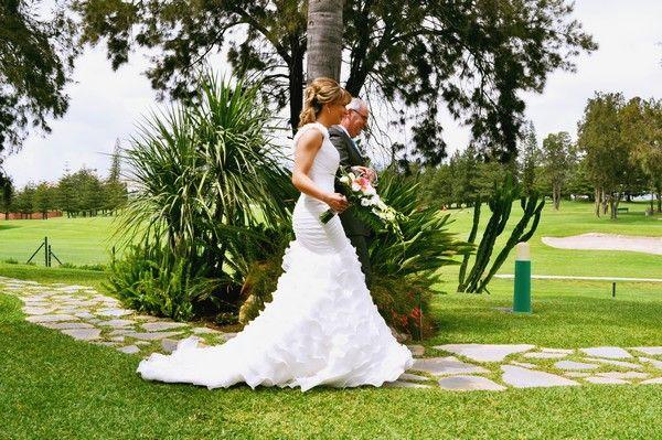 Mijas Golf in the background. A wedding ceremony at Hotel Tamisa Golf, Mijas Costa, Spain.