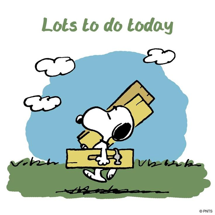Lots to do today ...