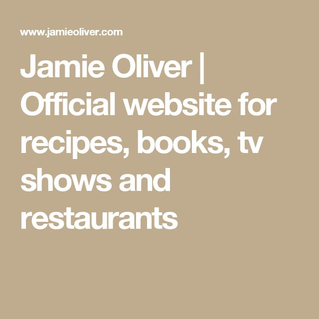 Jamie Oliver | Official website for recipes, books, tv shows and restaurants
