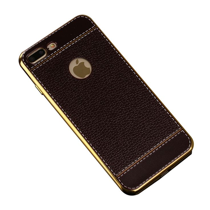 Sale 11% (5.99$) - Bakeey™ Litchi Grain Plating TPU Silicone Ultra-thin Shockproof Cover Case for iPhone 7Plus 5.5 Inch