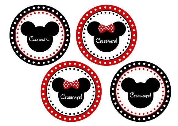 minnie mouse mickey mouse printable gift bag tags