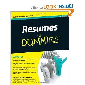 Resumes For Dummies: Kennedy: 9780470873618: Amazon.com: Books