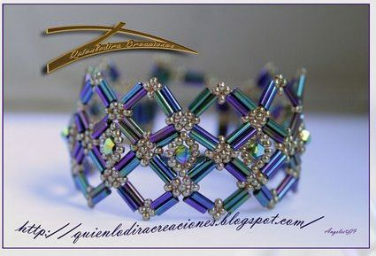 Bracelet Paris: Crystals Bracelets Tutorials, Beads Bracelets Tutorials, Beads Jewelry Patterns, Free Pattern, Free Beads Tutorials, Beads Bracelets Patterns, Seeds Beads Bracelets, Seeds Beads Tutorials, Free Bugle Beads Patterns