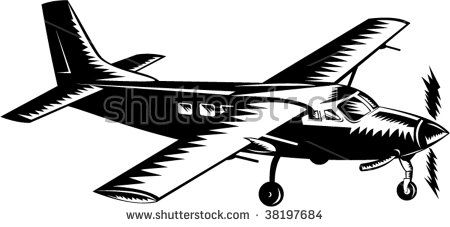 Propeller airplane woodcut style  #airplane #woodcut #illustration