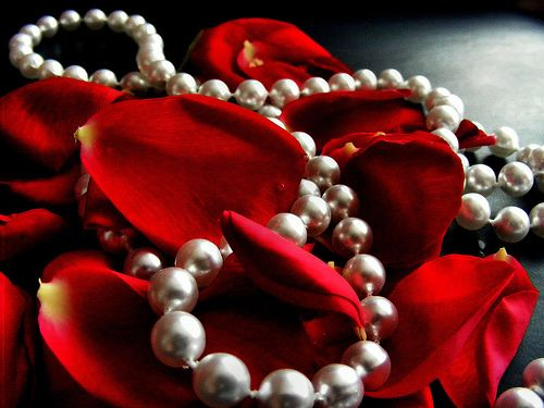 pearls and roses | Red...Red and more Red! | Pinterest
