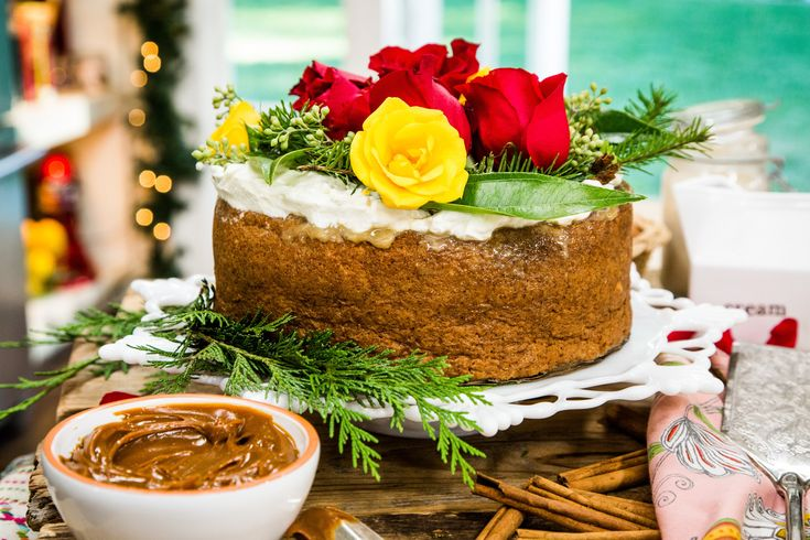 A dessert that is truly next level deliciousness! Sourdough Tres Leche Cake with Whipped Cream and Flower Crown by Baker Rose Lawrence! Tune in to Home & Family weekdays at 10a/9c on Hallmark Channel!