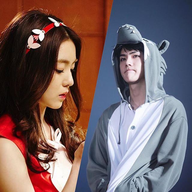 Little Red Riding Hood and the Wolf #sehun #irene #hunrene #exo #redvelvet #exovelvet