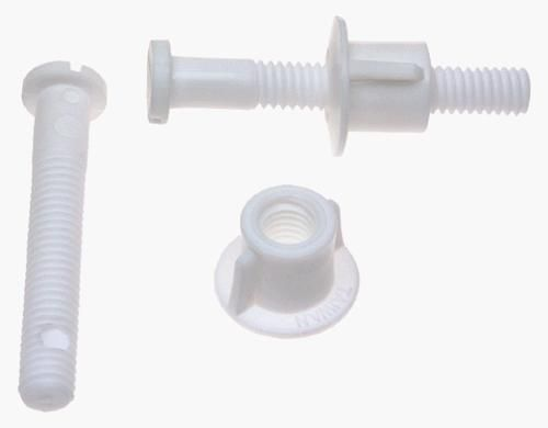PlumbPak Toilet Seat Hinge Bolt Set (White,Plastic), PP835-39