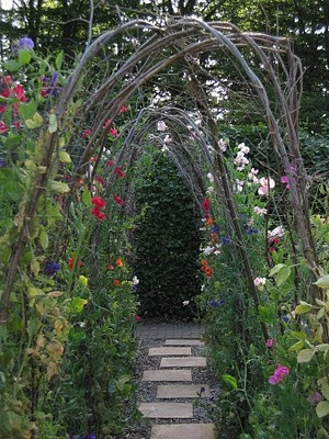 Entrance to allotment ~ lovely idea
