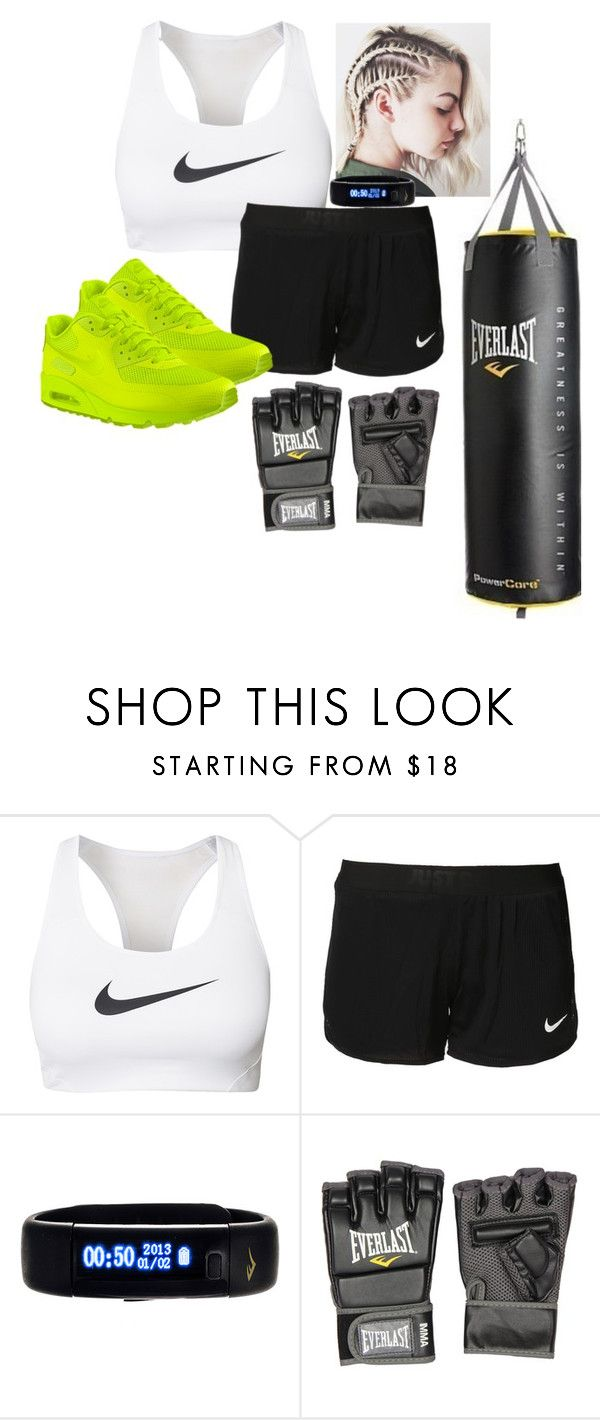 """Boxing"" by cottemichelle ❤ liked on Polyvore featuring NIKE, Everlast, women's clothing, women, female, woman, misses and juniors"