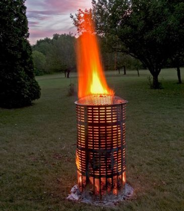 One seriously hot burning fire barrel  Products I Love  Burn barrel Burns Outdoor