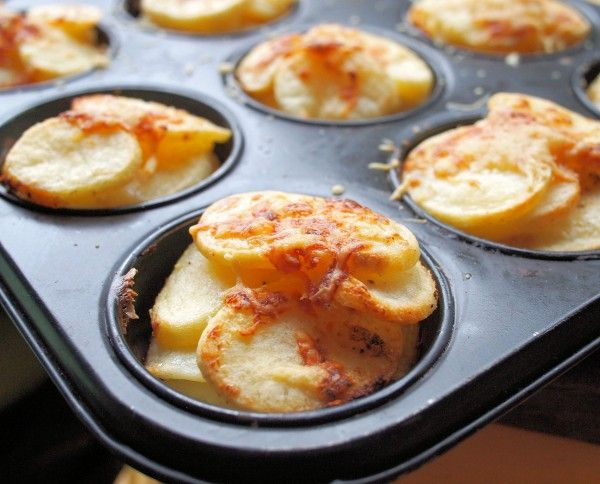Mini Potato Dauphinoise Muffins for Christmas Day from Lavender and Lovage