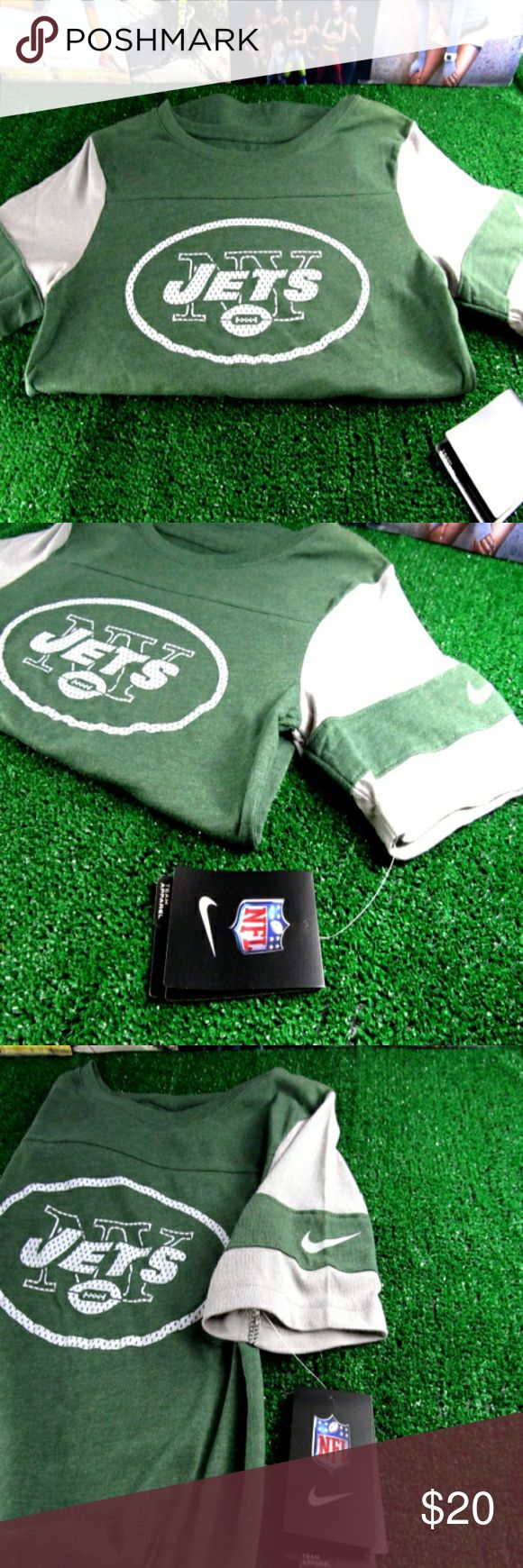 Jets Nike Shirt (Official Women's NFL Gear) Brand new with original retail tags. No visible flaws or defects. Official NFL Gear by Nike. Size XS  **Item ships same day if ordered by 4:00 P. M. Central Daylight Time. All orders placed after business hours are shipped the next day.** Nike Tops Tees - Short Sleeve