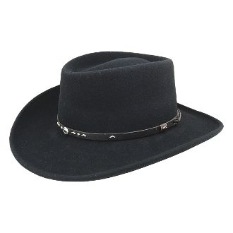 gambler cowboy hat, gambler hat, Bailey lite felt gambler Crushable cowboy hat, cowboy hat, Bailey Crushable cowboy hat, black crushable cowboy hat, black bailey hat, bailey cowboy hat