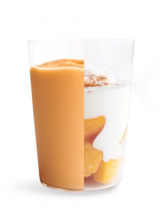 Amp up your daily smoothie with one of nature's naturally sweetest fruits.  Mango and Yogurt SmoothieMango is a sweet and refreshing answer to your sugar cravings. Blend it with ground cinnamon, yogurt, honey, and fresh lime juice for a creamy snack or dessert.