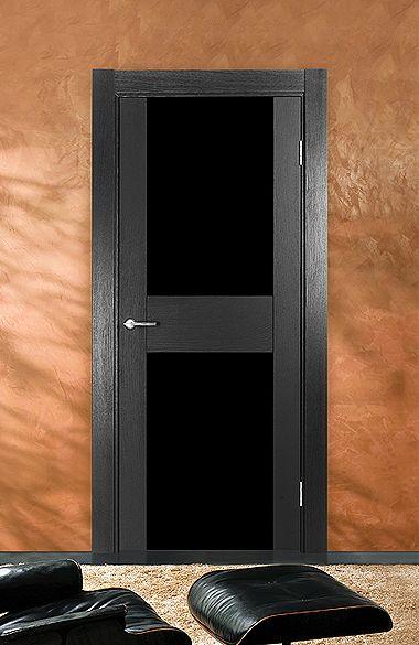 Межкомнатная дверь «Импреза». Отделка «черный дуб» #дверирулес #двери #межкомнатные #русский_лес