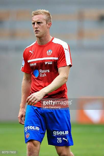 Peter Larsson of Helsingborgs IF during the Allsvenskan match between Helsingborgs IF and IFK Norrkoping at Olympia Stadium on September 18 2016 in...