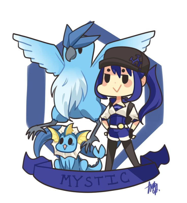 Pokemon Go | Team Mystic by sho-ba.tumblr.com