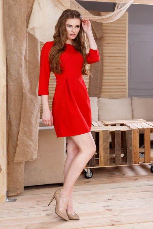 Rochie office rosie Donna:rochia de zi cu care vei fi remarcata in orice imprejurare deoarece emana feminitate, eleganta si stil. Potrivita pentru birou, dar o poti purta si in alte ocazii.