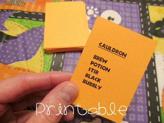 printable halloween taboo party game idea by sweetmellyjane fun for small groups kids - Halloween Games For Groups