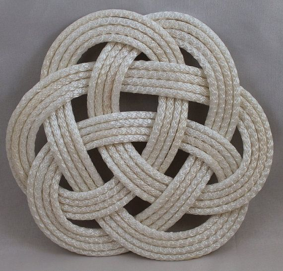 Recycled Rope Maritime Turks Head Celtic Knot Trivet