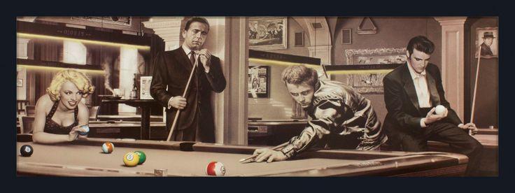 Quadro Decorativo Poster com Moldura Jogo Do Destino Elvis Presley e Amigos s/ Vidro 162x57cm - Decore Pronto