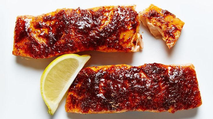 If you're a fan of this omega-3 rich fish but prefer when it doesn`t taste, well, too salmony, this Sweet Citrus Spiced Salmon recipe is for you.  Salmon is marinated in pineapple and lemon juice and then baked with a sweet and spicy topping, leaving every bite the perfect blend of flavorful (but mellow) fish!
