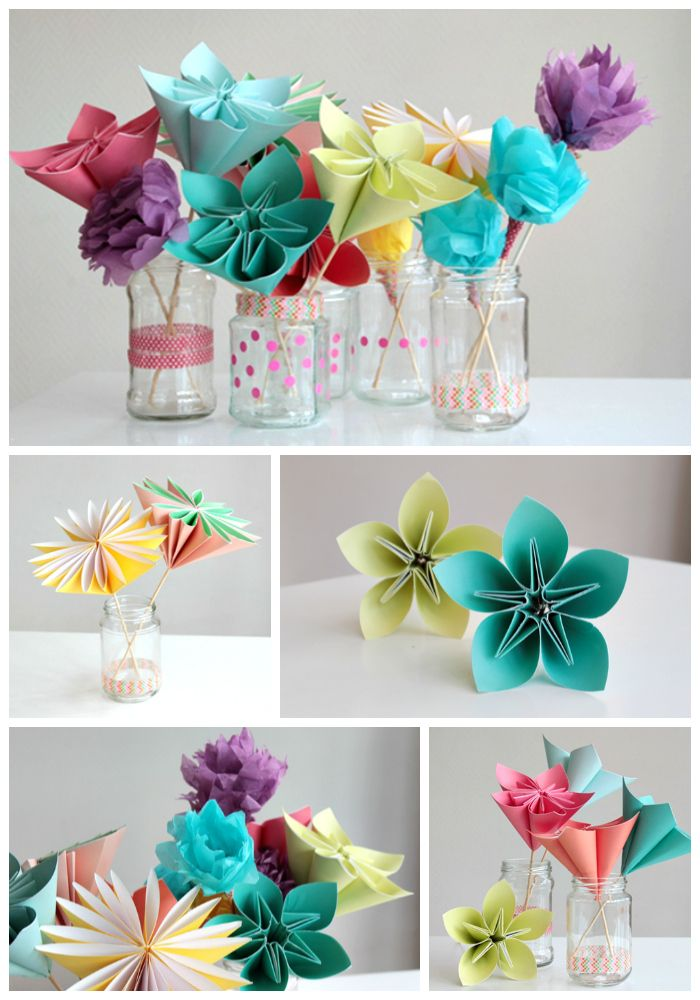 559 best origami and paper craft images on pinterest for Handmade paper flowers tutorial