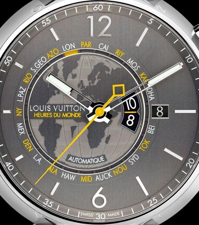 Louis Vuitton Tambour Heures du Monde – Стильные часы от Луи Виттон   LuxuriousWatches.ru