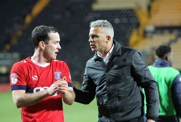 Luke Joyce (left): one of five players offered deals by Keith Curle