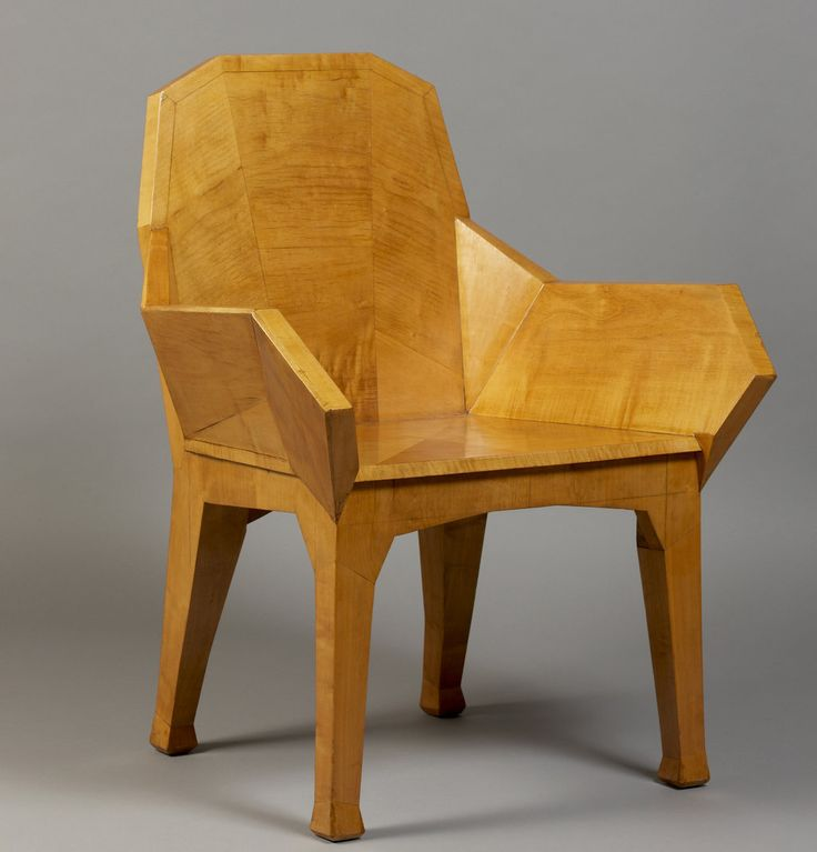 """1930 by  Austrian philosopher and architect Rudolf Steiner. birch-veneered armchair. (He also is the """"inventor"""" of the Emerson Waldorf Schools. Clearly a """"Renaissance Man"""") #baselshows"""