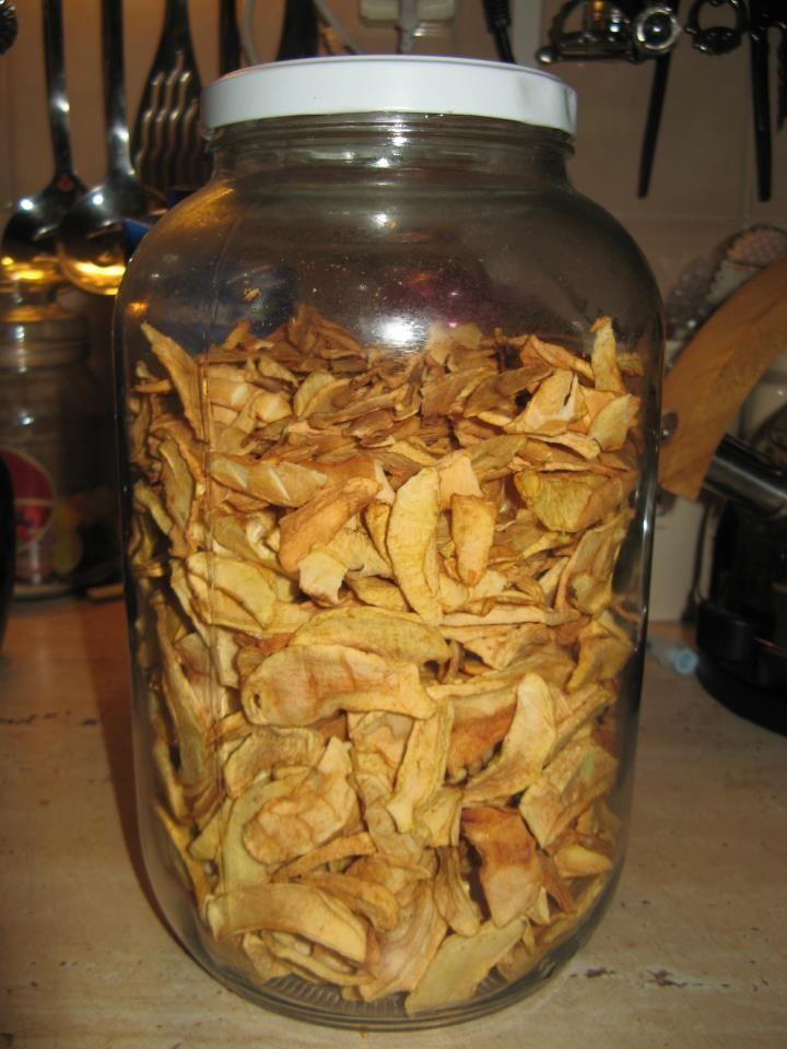 Sušené jablká so škoricou