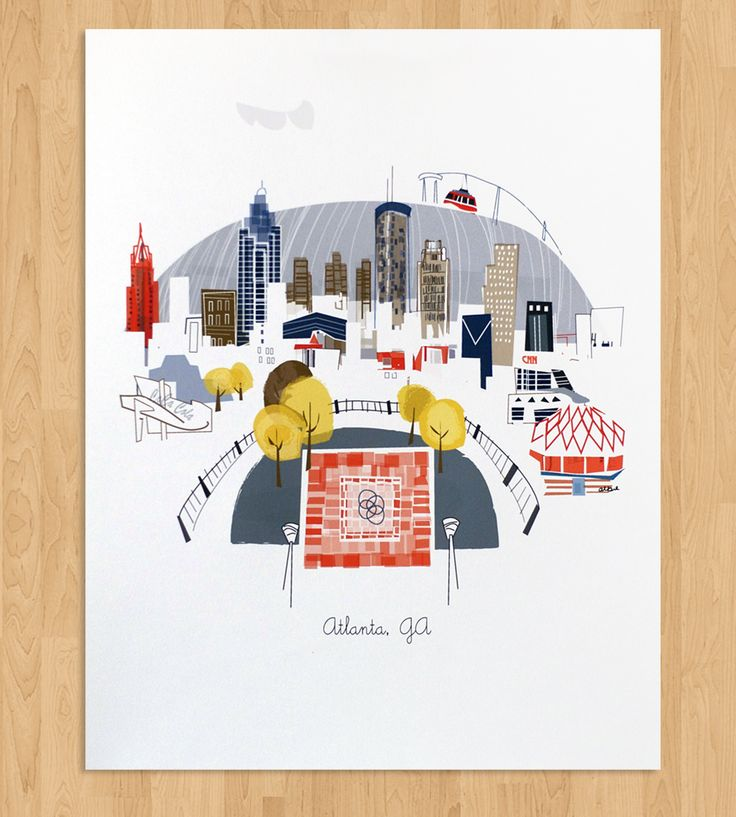 Atlanta Art Print | Bring an excellent view of Atlanta to your abode with this art... | Posters