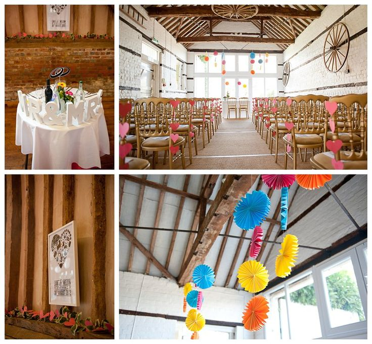 Lillibrooke Manor wedding. Typography style decorations, paper decorations DIY style http://www.fionasweddingphotography.co.uk
